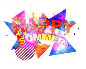 Funky Happy Summer — Stock Vector