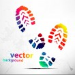 Stock Vector: Shoe prints