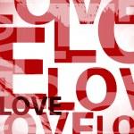 Love shape pattern in vector — Stock Vector