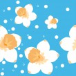 Daffodils seamless background — Stock Vector