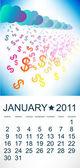 Calendario para enero de 2011. — Vector de stock