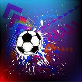 Contemporary Art. Football background — Stock Vector