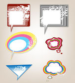 Set retro speech bubbles — Vettoriale Stock
