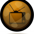 TV web button — Stock Vector