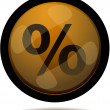 Web button with percent — Stock Vector