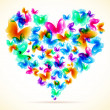 Colorful background with butterfly.  — Imagen vectorial