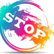 Modern colorful stop stamp — Stock Vector