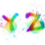 Colorful alphabet. Watercolor Y,Z — Stock Vector