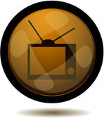 Botón web tv — Vector de stock