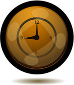 Glossy Clock Button — Stock Vector