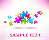 Colorful puzzle banner — Stock Vector