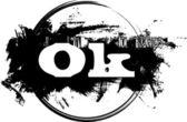 Ok Stamp — Stock Vector