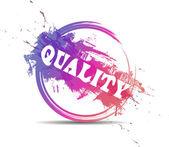 Moderna färgglada kvalitetsstämpel — Stockvektor