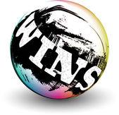 3D sphere design.WINS — Stock Vector
