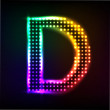 Vector alphabet. Disco letter D — Stock Vector #32988953