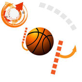 Basketball sport design banner — Stock Vector