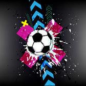 Contemporary Art. Football background — 图库矢量图片