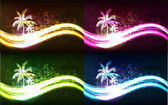 Summer background with palms. — Stock Vector