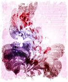 Blomma abstrakt bakgrund för design. — Stockvektor