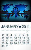 Kalendarz do stycznia 2011. — Wektor stockowy