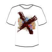 Cross. T-shirt design template. — 图库矢量图片