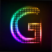 Vector alphabet. Disco letter G — Stock Vector
