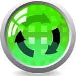 Recycle button — Stock Vector