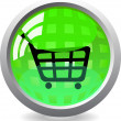 Shopping Cart Button Icon — Stock Vector