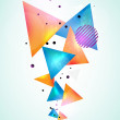 Stock Vector: Abstract geometric shapes