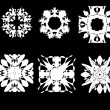 Vector set of 6 snowflakes — Stock Vector