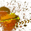 Contemporary Art abstract grunge background — Stock Vector