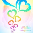 Abstract heart Colorful Background — Stock Vector