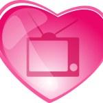 TV web button — Stock Vector