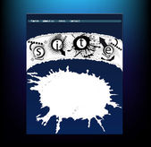 Grunge-Business-Website-design — Stockvektor