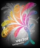 Rainbow swirly background — Stock Vector