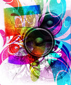 VECTOR Music Event Background — Stock Vector