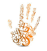 Abstract handprint background — Stock Vector