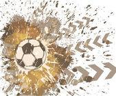 Arte contemporáneo. fondo de fútbol — Vector de stock