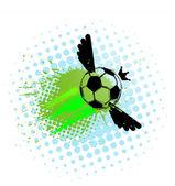 Voetbal ondergrondse Streetstyle — Stockvector