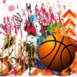 Background of basketball sport — Imagen vectorial