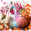 Background of basketball sport — Grafika wektorowa
