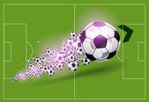 Vector football background — Stock Vector