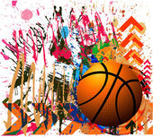 Background of basketball sport — Stock Vector