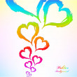 Abstract heart Colorful Background — Imagens vectoriais em stock