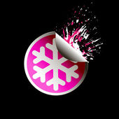 Sale tag stickers . Snowflake — 图库矢量图片