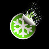 Sale tag stickers . Snowflake — ストックベクタ