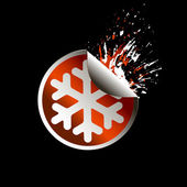 Sale tag stickers . Snowflake — Stockvector