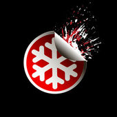 Sale tag stickers . Snowflake — Vecteur