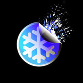 Sale tag stickers . Snowflake — Stock Vector