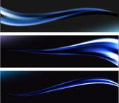 Smooth Waves. Vector Background. Dark design. — Wektor stockowy